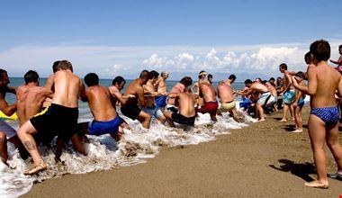 Animazione sulla spiaggia