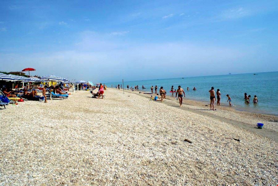 La Spiaggia del campeggio nelle Marche