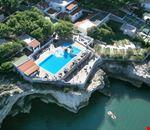 La piscina vista dall'alto