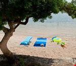Spiaggia a Rovigno, Croazia