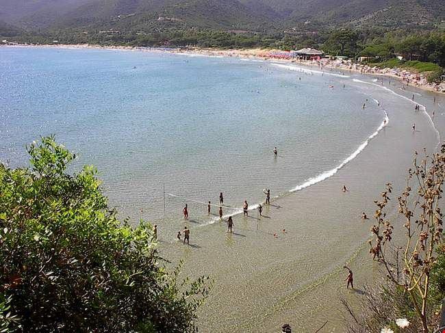 Spiaggia del camping village in Toscana