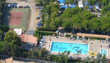 Panoramica aerea del Camping Village