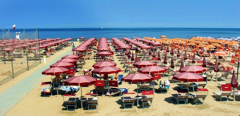 La spiaggia di Cervia