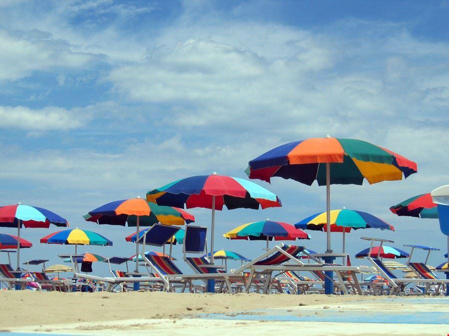 La spiaggia del Camping Italia International, Rimini