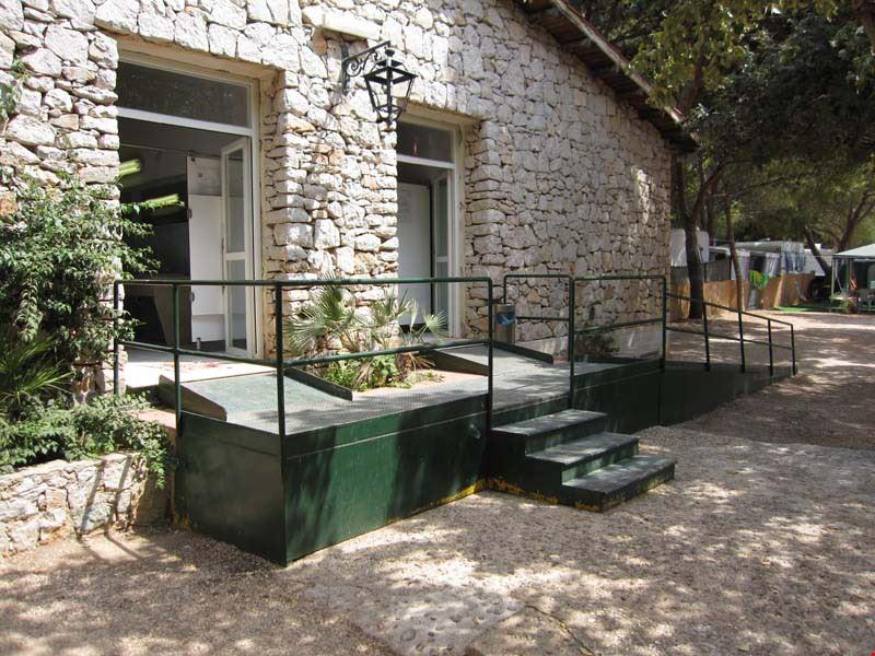 I servizi igienici del camping village