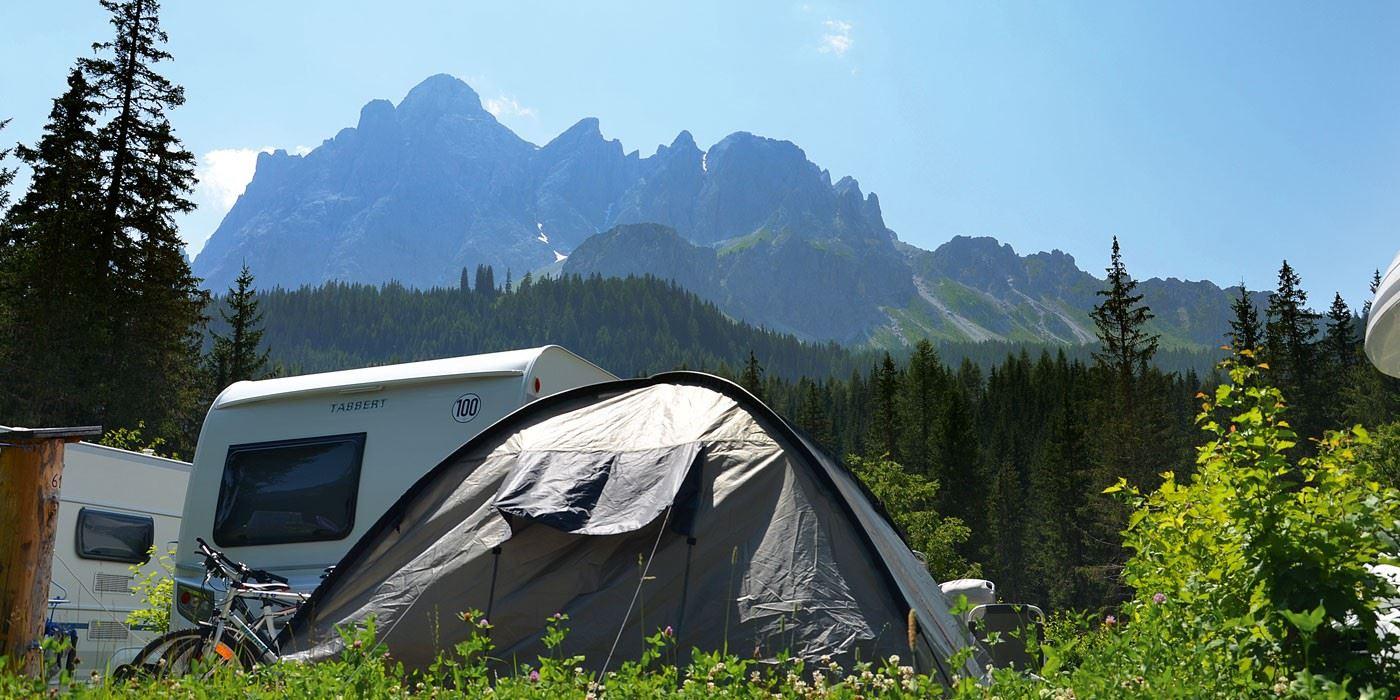 Le piazzole del campeggio
