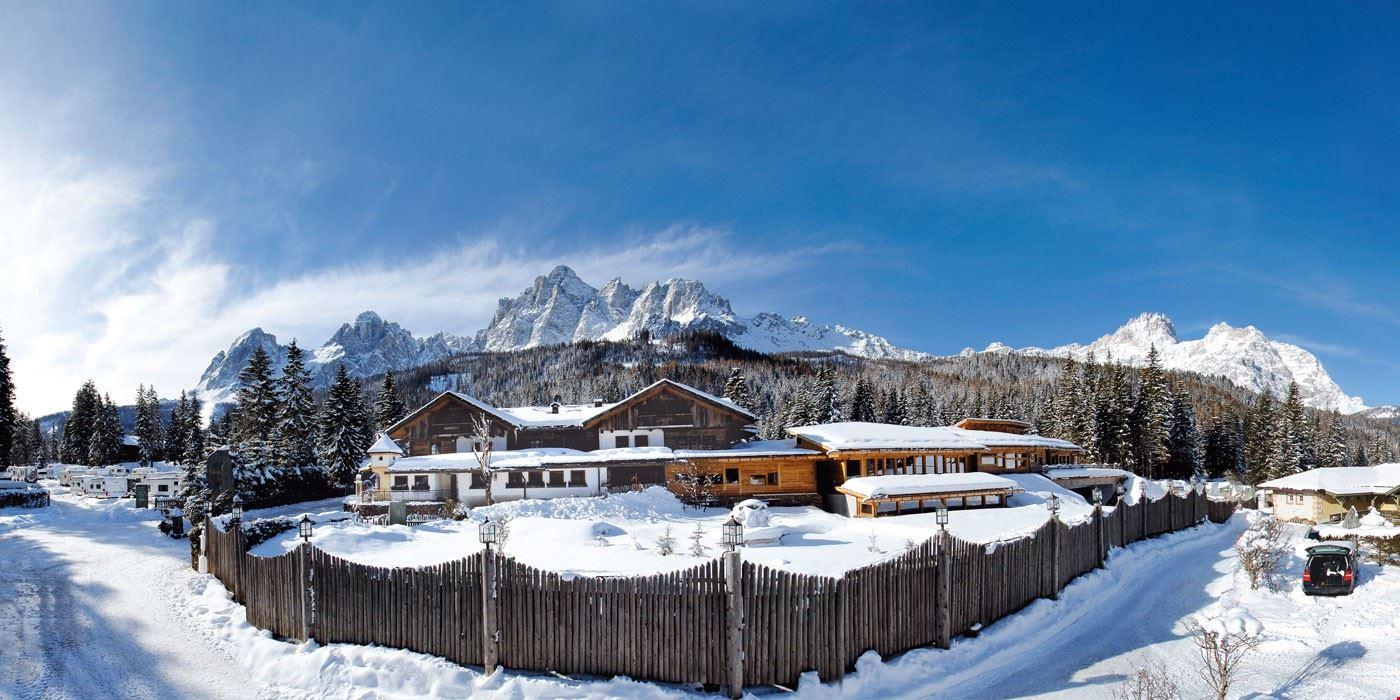 Il Camping Caravan Sexten in inverno