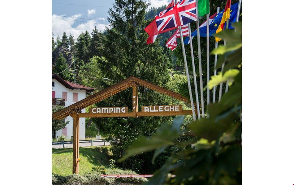 L'ingresso del campeggio