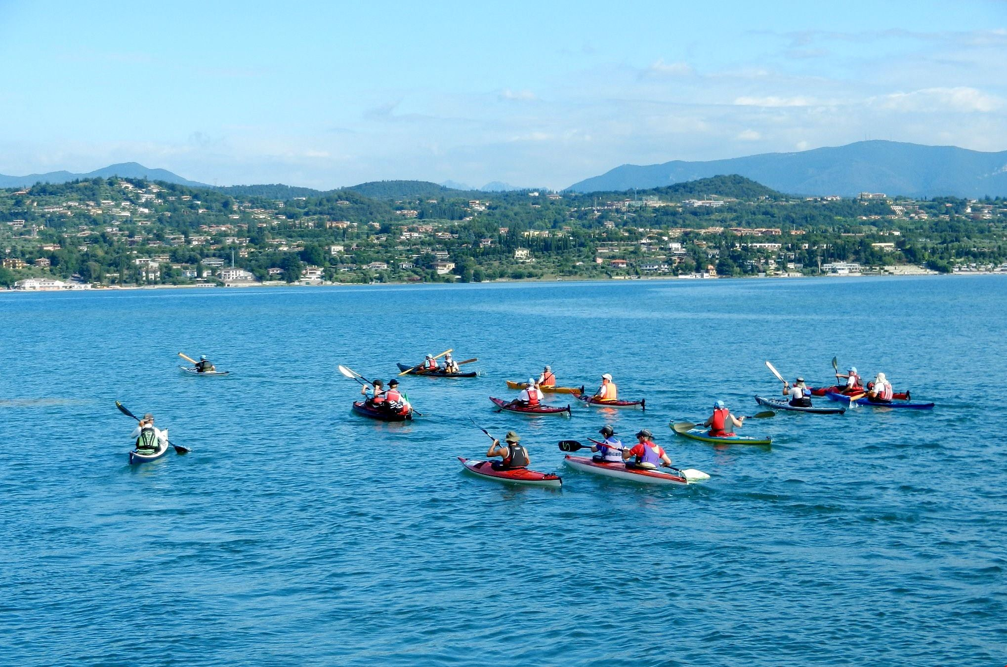 Canoe sul Lago di Garda