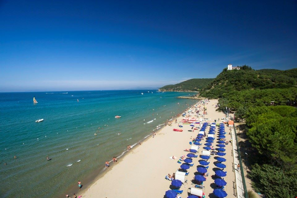 Campeggio sul mare in Toscana