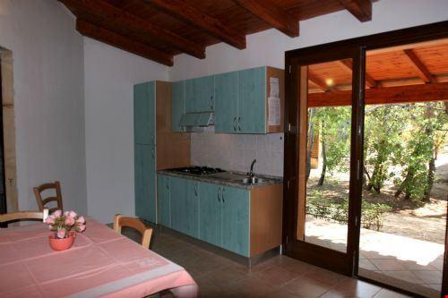 L'interno del bungalow