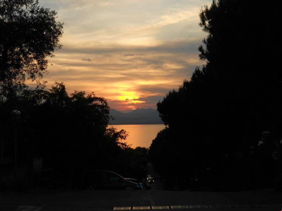 Il tramonto sul Lago di Garda