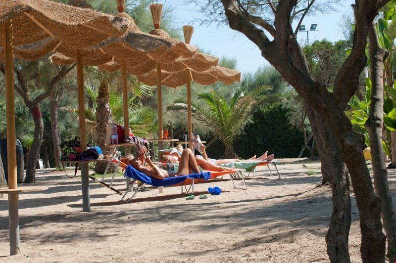 Spiaggia del camping Torre Castiglione