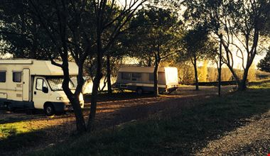 Area camper del campeggio in Toscana