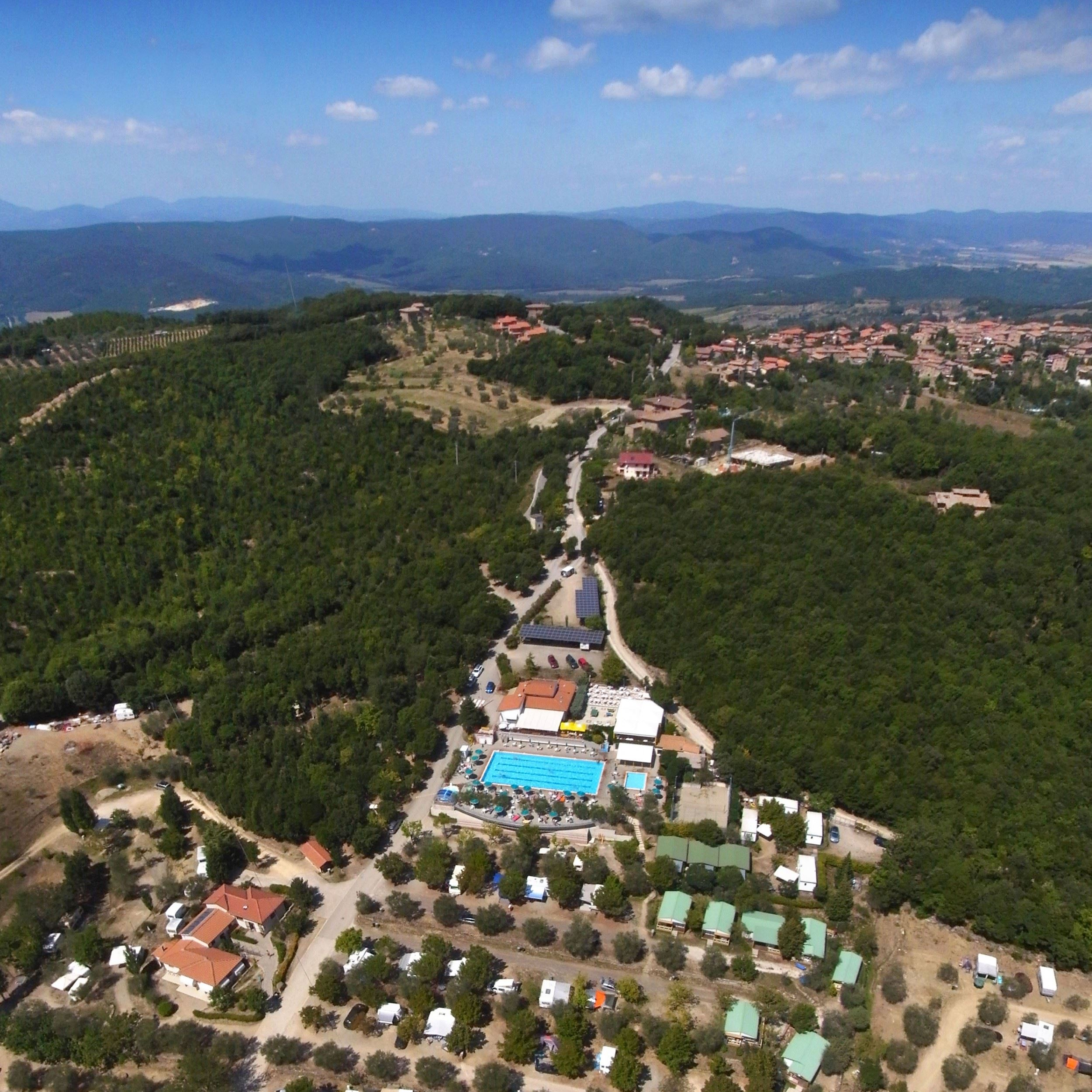 Panoramica del camping le Soline in Toscana
