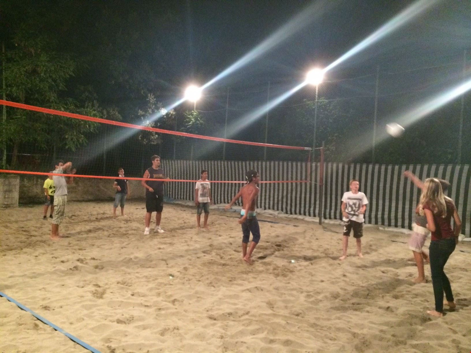 Beach volley la sera
