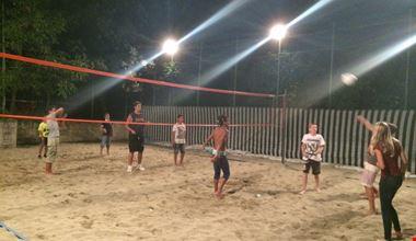 Beach volley la sera