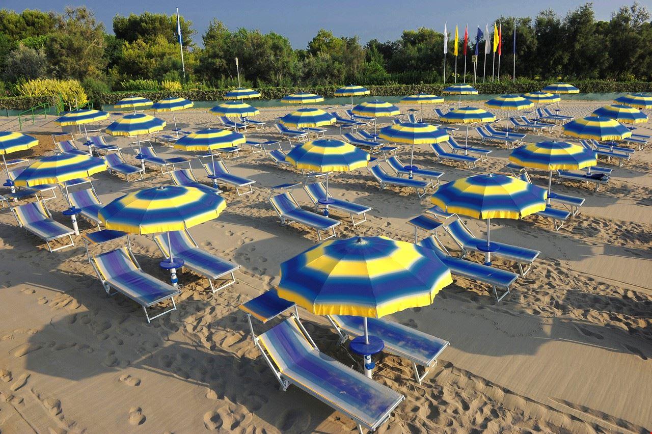 La spiaggia del Camping Village dei Fiori