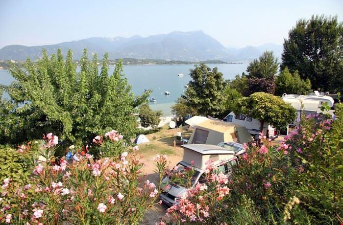 Camping direttamente sul Lago di Garda