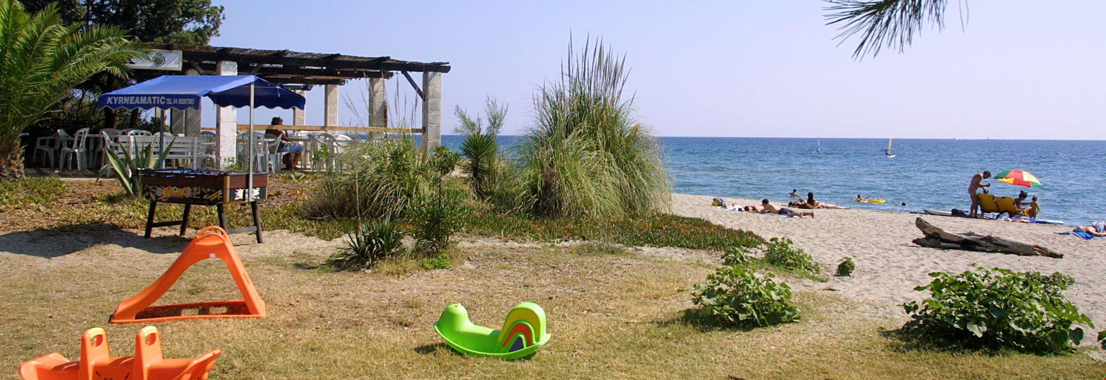 Camping sul Mare a Santa Lucia di Moriani, Corsica