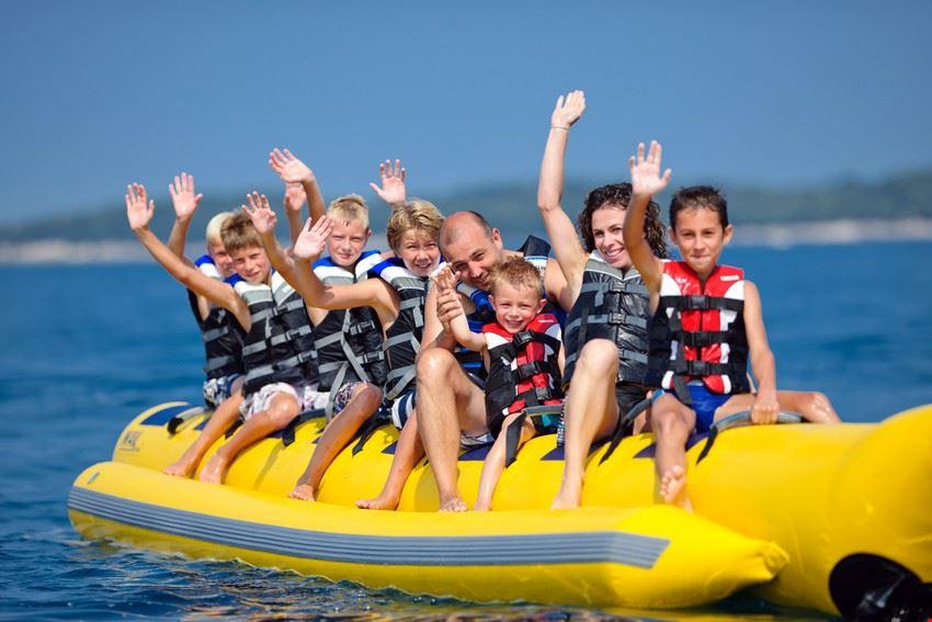 Giochi in acqua in Croazia