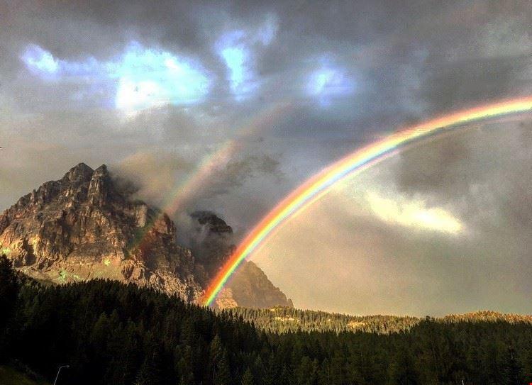 Arcobaleno sulle Dolomiti