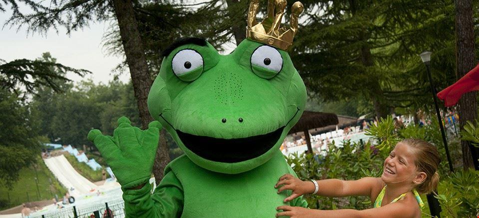 Froggy, la mascotte dell'Altomincio Family park