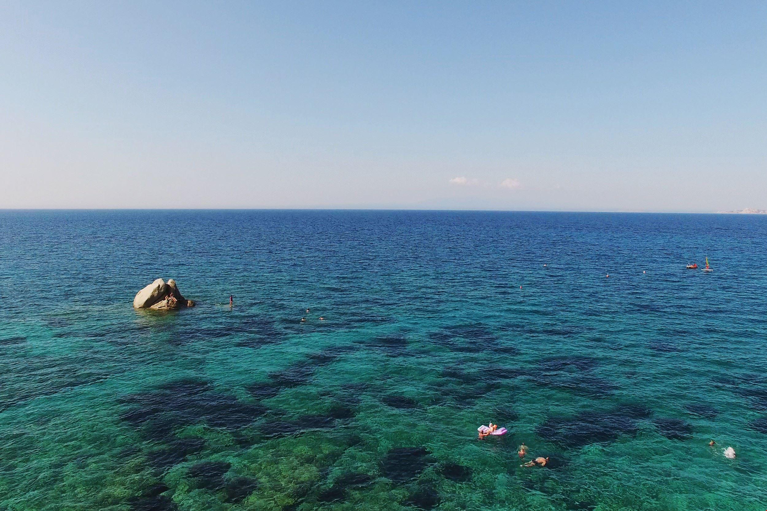 Campeggio sul mare in Sardegna