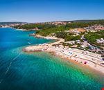 Panoramica della spiaggia del campeggio