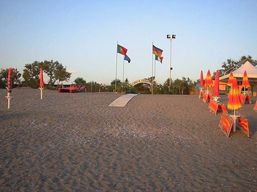 La spiaggia del Camping Il Gabbiano
